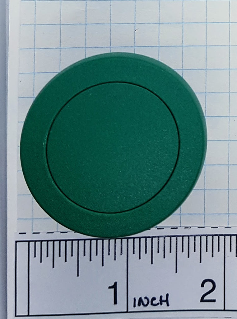 S+S Push Button, Green, Mushroom, Momentary, Plastic, 40mm Top