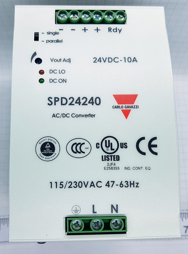 Carlo Power Supply - Input 100-240vac - Output 24vdc, 240w, PFC and parallel function