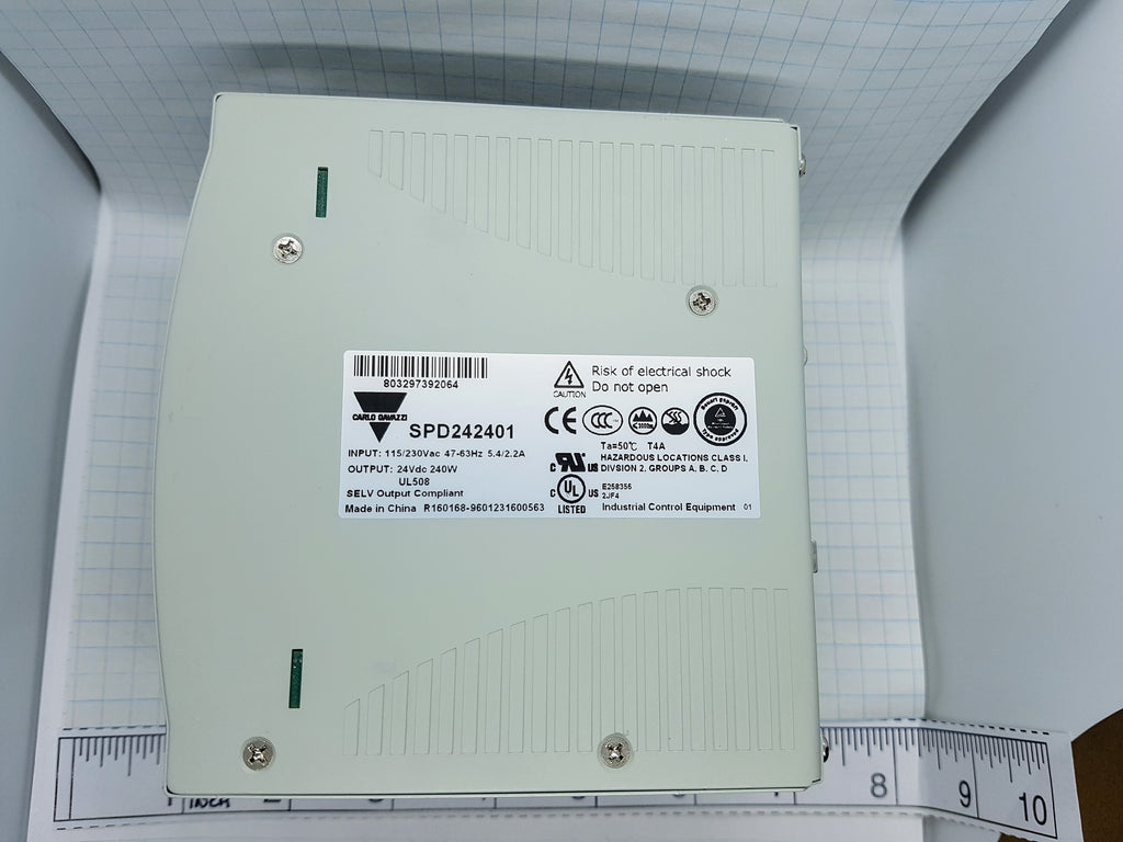 Carlo Power Supply - Input 100-240vac - Output 24vdc, 10A, 240w, PFC and parallel function