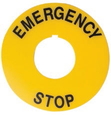 "S+S Legend Plate - ""Emergency Stop"""