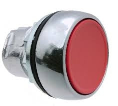S+S Push Button, Red, Metal