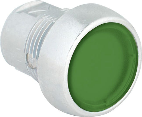 S+S Push Button, Green, Flush, Illuminated, Momentary