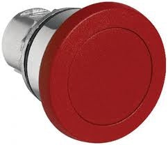 S+S Push Button, Red, Mushroom, Momentary, Metal, 40mm Top