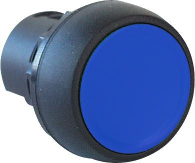 S+S Push Button, Blue, Plastic, Flush
