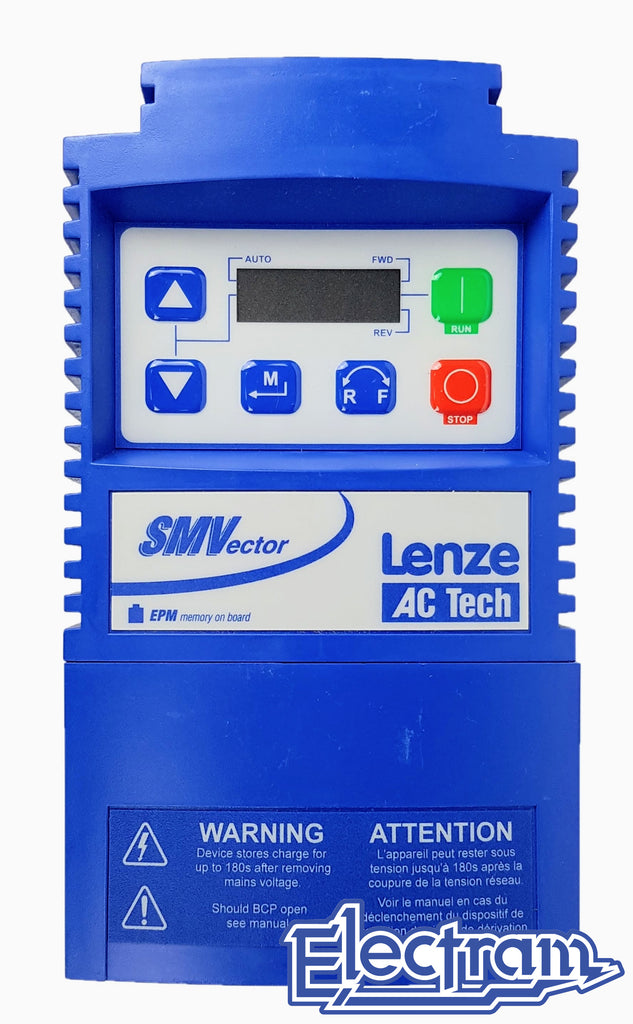 Lenze AC Tech VFD - 1HP - 480v - 3 phase input - NEMA1 Indoor - Variable Frequency Drive