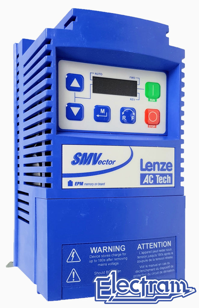 Lenze AC Tech VFD - 1HP - 600v - 3 phase input - NEMA1 Indoor - Variable Frequency Drive