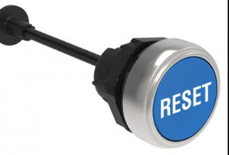 "Lovato Push Button, Blue, with Actuator, ""Reset"""