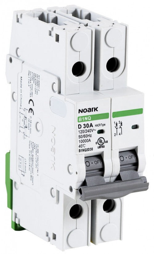 Noark Breaker, 2 Pole, 5 Amp, 250v Rated