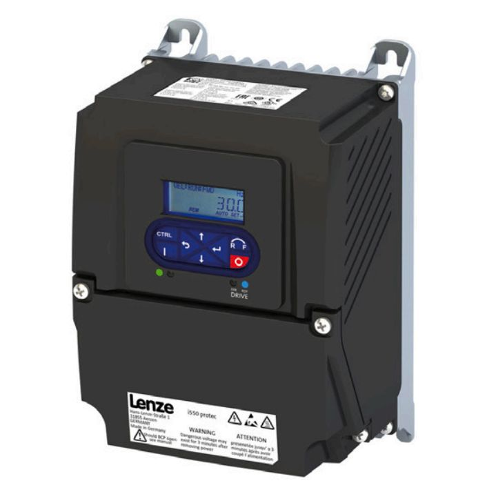 Lenze Protec VFD - 1HP - 200-240v - Single or 3 phase input - NEMA4x Indoor Washdown - LCD Keypad