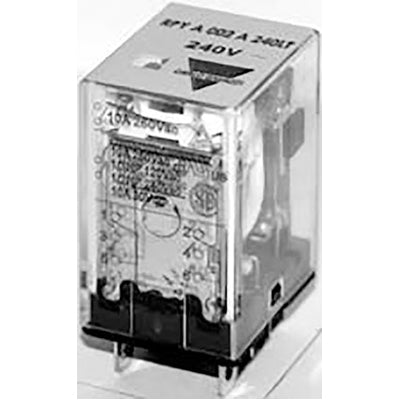 Carlo Relay, 2 Pole, 8 Pin, 120v AC, 10mA, Flange Mount