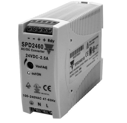 Carlo Power Supply - Input 100-240vac - Output 24vdc, 60w