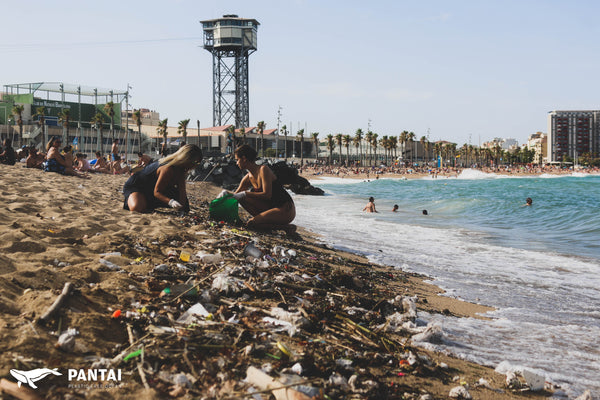 plasticos barcelona barceloneta plastics single use microplastics