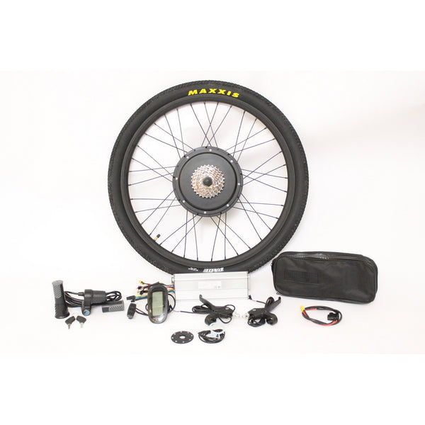"EU Free Shipping EU Duty Free 36V 1200W 48V 1500W Powerful Ebike 26"" 27.5"" 28"" Rear Wheel Conversion Kits"