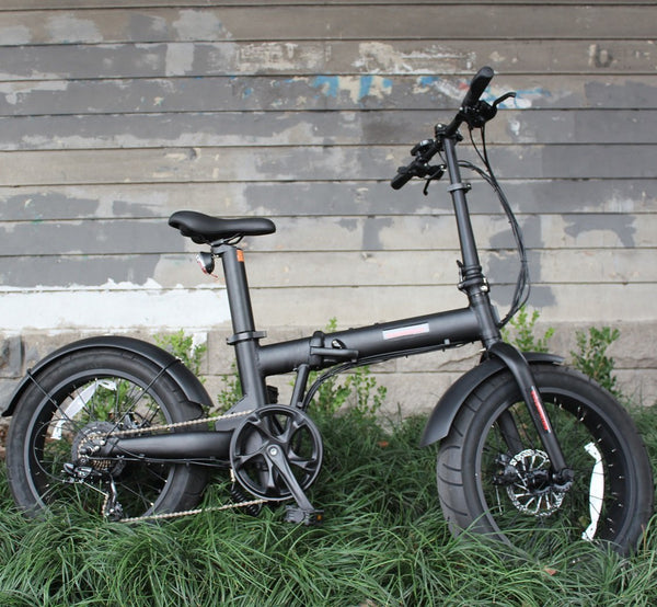 "36V 350W Folding 20x4.0"" Fat Wheel eBike with Seatpost Built-in Battery"