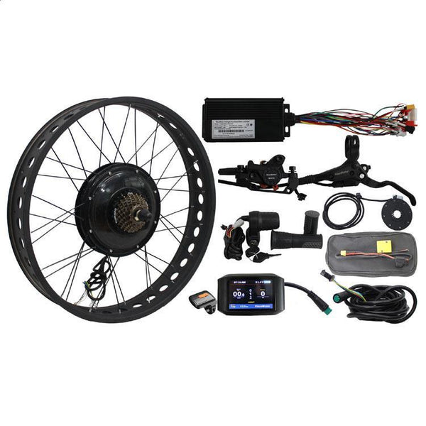 Ebike 36-72V 1000W Fat Tire Conversion Kits & Colorful Display fr Electric Bike Snow Bike