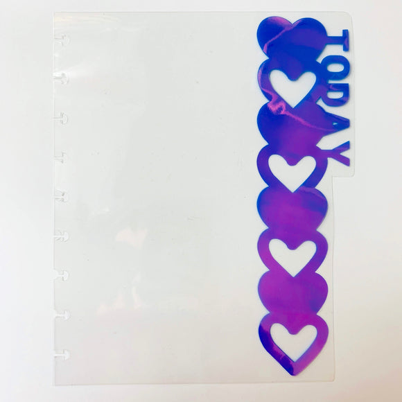 Transparent Heart Side Tab Divider