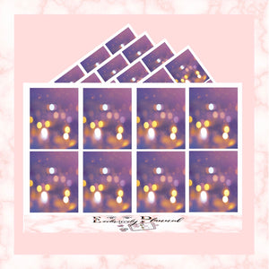 """Purple Bokeh Lights"" Full Boxes"