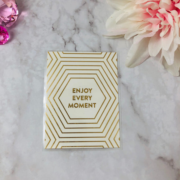 """Every Moment"" Gold Foiled Journaling Card"