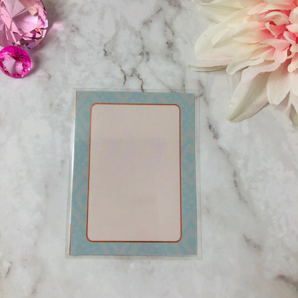 Rose Gold Foiled Journaling Card