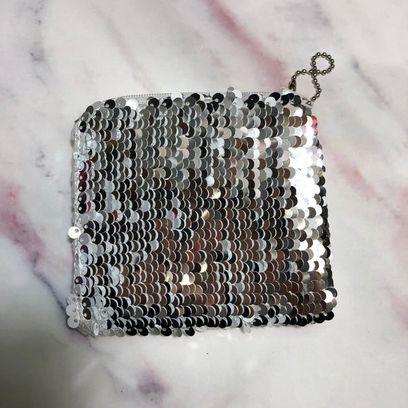 Flip Sequin Coin/ID Keychain Purse