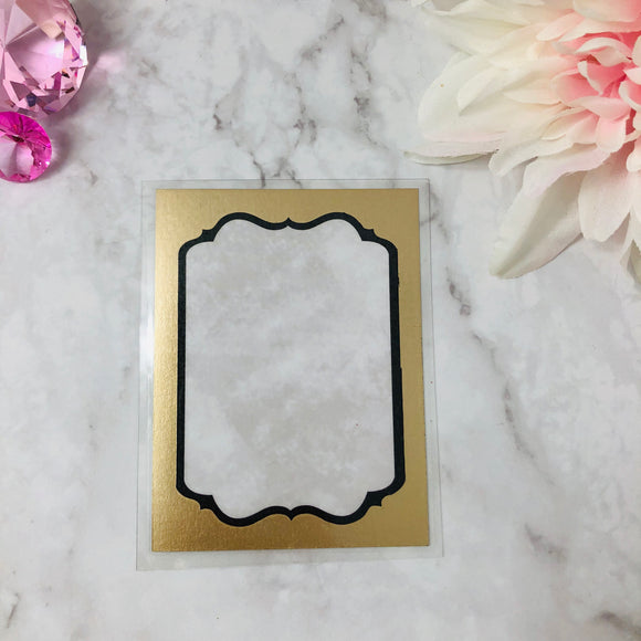 Gold Foiled Journaling Card
