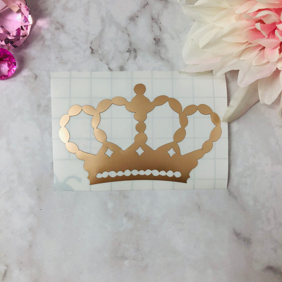 """Crown"" Champagne Vinyl Decal"