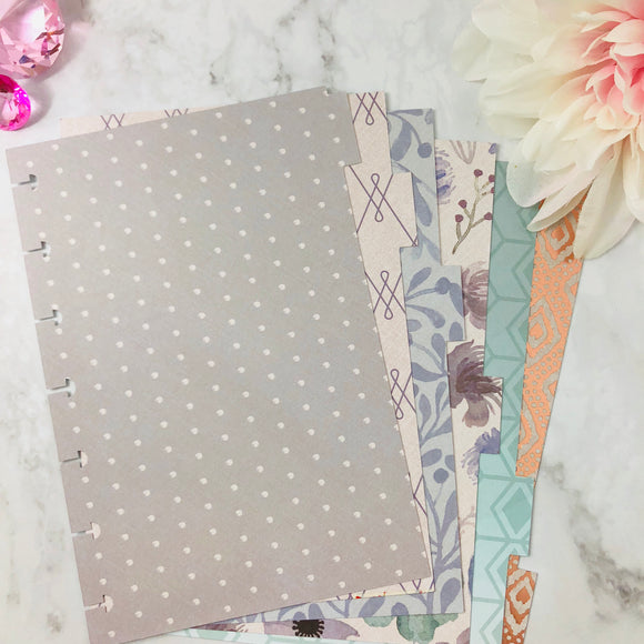 """Desert Flower"" Happy Planner Divider Set"