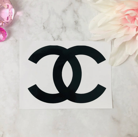 """C's"" Chanel Black Vinyl Decal"