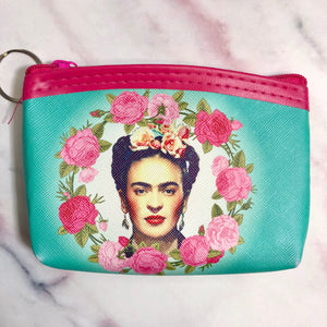 Frida Khalo Coin/ID Keychain Purse
