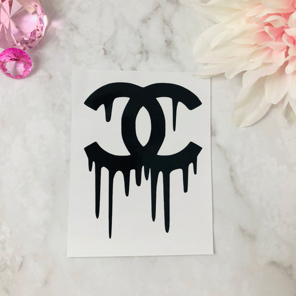 """Dripping C's"" Black Chanel Decal"