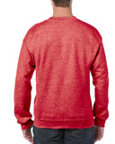 Gildan:18000-Heather Sport Scarlet Red