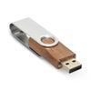 Metal swivel wood USB