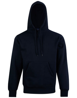 Adults Close Front Contrast Fleecy Hoodie