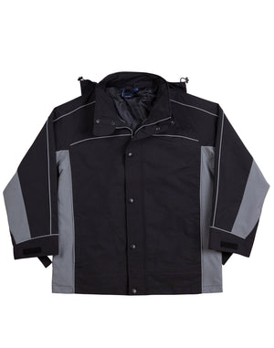 3 in 1 Jacket, silver relective piping