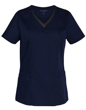 Ladies Contrast Colour S/S Scrub Top