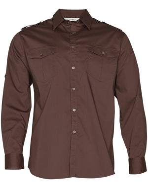 Mens Long Sleeve Military Shirt