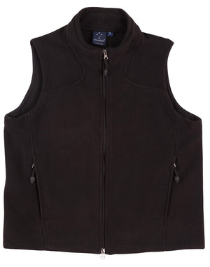 Mans bonded polar fleece vest