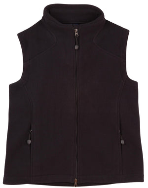 Ladies bonded polar fleece vest