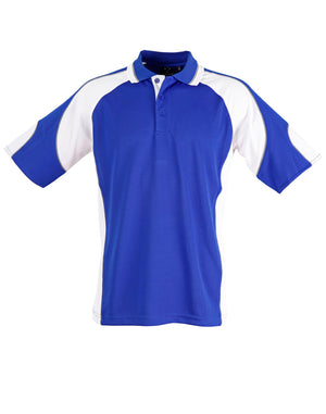 Kids Cooldry Contrast Polo With Sleeve Panel