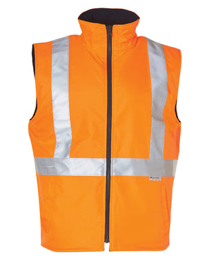 Hi-Vis Reversible Safety Vest With Hoop Pattern 3M Tapes