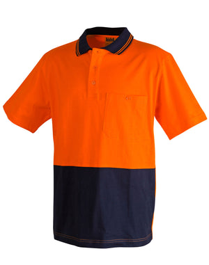 Cotton Jersey Two Tone Safety Polo