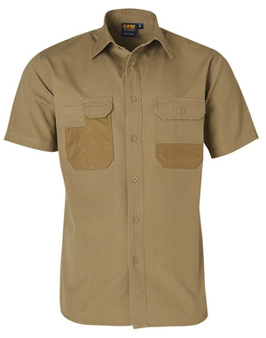 Fine Duck Weave Dura-Wear Short Sleeve Work Shirt