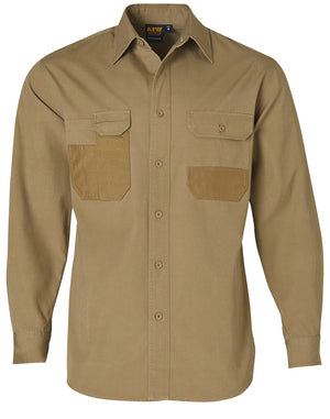 Fine Duck Weave Dura-Wear Long Sleeve Work Shirt