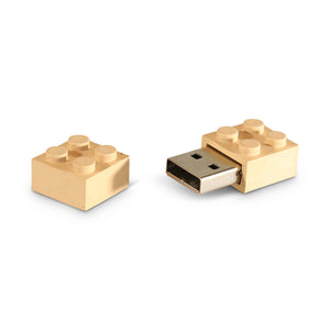 Recycled cornstalk build block USB
