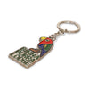 Custom Shaped Keyring Metal + Enamel