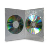 DVD Case DOUBLE SLIMLINE 7mm Clear