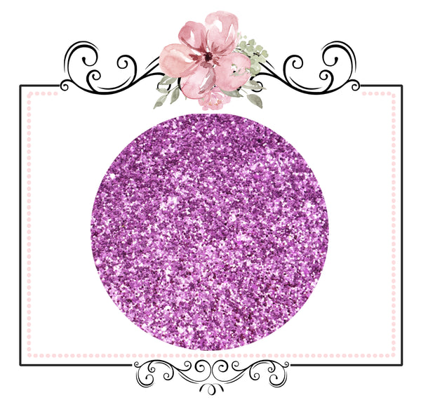 Pink Orchid ~ Medium Glitter Faux Leather Fabric Sheets