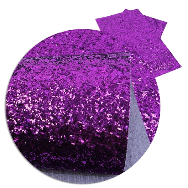 Royal Purple ~ Medium Glitter Faux Leather Fabric Sheets