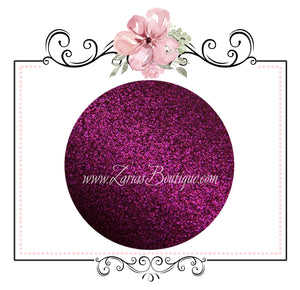 Magenta Pink ~ Fine Texture Glitter Faux Leather Fabric Sheets