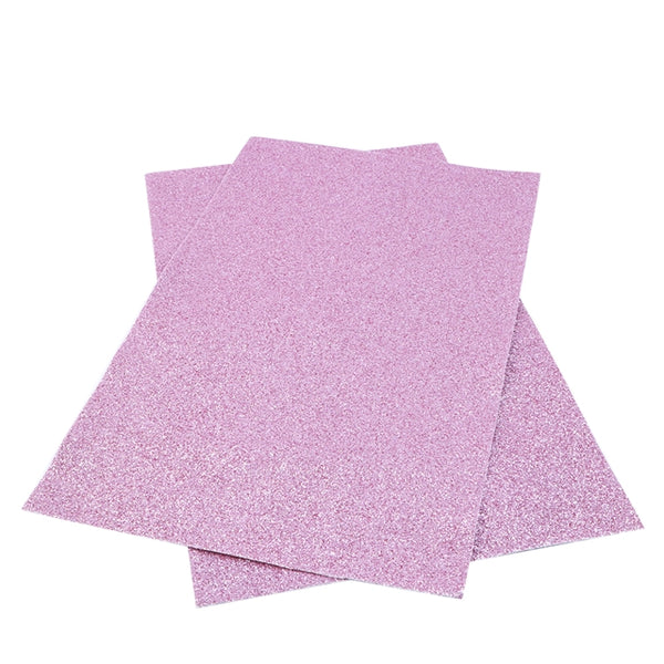 Pink Ultra FINE Glitter Faux Leather Fabric Sheets